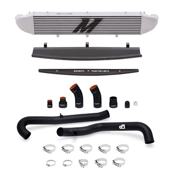 Mishimoto Front Mount Intercooler Kit for 2014-2016 Ford Fiesta ST, Wrinkle Black Piping/Silver IC