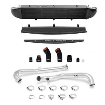 Mishimoto Front Mount Intercooler Kit for 2014-2016 Ford Fiesta ST, Polished Piping/Black IC