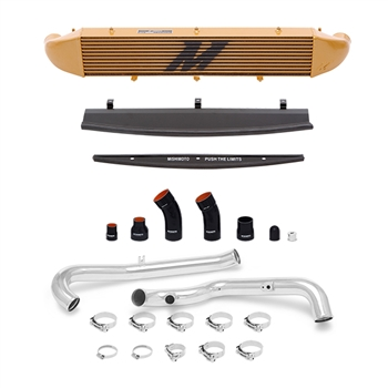 Mishimoto Front Mount Intercooler Kit for 2014-2016 Ford Fiesta ST, Polished Piping/Gold IC