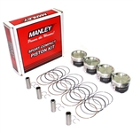 Manley Platinum Series Forged Pistons for Mitsubishi 4B11T 86.00mm, 9.0:1 CR