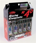 Project Kics R40 NeoChro Racing Composite Lug Nuts - 12x1.25mm (20 piece Lug Nut Set)