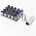 Project Kics R26 NeoChro Racing Composite Lug Nuts with Locks - 12x1.25mm (16 piece Lug Nut Set with 4 Locks)
