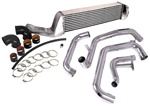 Injen Front Mount Intercooler Kit w/ bumper support beam and Polished Piping for the 2004 Subaru Impreza STI with the 2.5-liter, EJ25 engine
