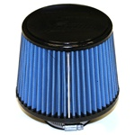 "Injen/AMSOIL Ea Nanofiber Dry Air Filter - 2.50"" Flange Diameter  6.00"" Base / 5.00"" Tall / 5.00"" Top - 50 pleat"