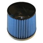"Injen/AMSOIL Ea Nanofiber Dry Air Filter - 3.00"" Flange Diameter  6.00"" Base / 5.00"" Tall / 5.00"" Top - 54 pleat"