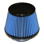 "Injen/AMSOIL Ea Nanofiber Dry Air Filter - 3.50"" Flange Diameter  6.75"" Base / 5.00"" Tall / 5.00"" Top - 54 pleat"