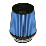 "Injen/AMSOIL Ea Nanofiber Dry Air Filter - 3.00"" Flange Diameter  6.00"" Base / 5.00"" Tall / 4.00"" Top - 45 Pleat"