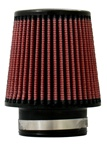 "Injen High Performance Air Filter - 3.00"" Black Filter 6"" Base / 5"" Tall / 4"" Top - 45 Pleat"