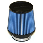 "Injen/AMSOIL Ea Nanofiber Dry Air Filter - 3.00"" Flange Diameter  5.00"" Base / 4.88"" Tall / 4.00"" Top - 50 pleat"