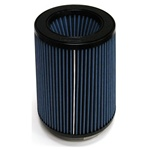 "Injen/AMSOIL Ea Nanofiber Dry Air Filter - 5.00"" Flange Diameter  6.50"" Base / 8.00"" Tall / 5.50"" Top - 70 pleat"