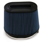 "Injen/AMSOIL Ea Nanofiber Dry Oval Air Filter - 8.50"" x 9.00"" Flange Diameter  7.00"" Tall / 4.00"" x 8.00"" Top - 70 pleat"