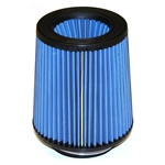 "Injen/AMSOIL Ea Nanofiber Dry Air Filter - 4.00"" flange diameter  6.50"" Base / 7.00"" Tall / 5.38"" inverted cone top - 70 pleat"