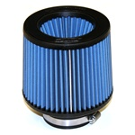 "Injen/AMSOIL Ea Nanofiber Dry Air Filter - 3.00"" flange diameter  6.00"" Base / 5.00"" Tall / 5.38"" inverted cone top - 54 pleat"
