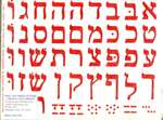 Aleph Bet Stickers - 1 1/4 in. - 38/Sheet - 18 pack