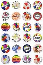 English Personal Encouragement Stickers - 24/sheet - 10 pack