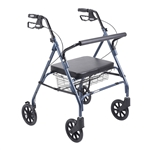 Drive Bariatric Blue Rollator Walker