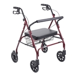 Drive Bariatric Red Rollator Walker