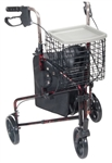 3 Wheel Walker Rollator with Basket, Tray and Pouch