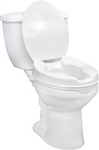 "2"" Raised Toilet Seat with Lock and Lid"