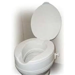 "4"" Raised Toilet Seat with Lock and Lid"