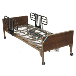 Delta Ultra Light Semi Electric Bed with Half Rails and Therapeutic Support