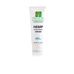Tree of Life 400 mg Hemp CBD Oil Lotion