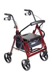 Duet Burgundy Transport Wheelchair Rollator Walker