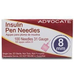 Advocate Insulin 31 Gauge Pen Needle