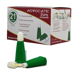 Advocate Safety Lancets 21 gauge