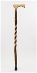 Free Form Twisted Hickory Walking Cane