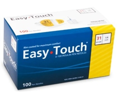 EasyTouch Insulin 31 Gauge Pen Needle