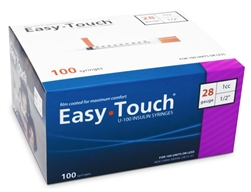 EasyTouch Diabetes 28 Gauge Syringe