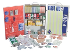 4 Shelf 200 Person Deluxe First Aid Cabinet
