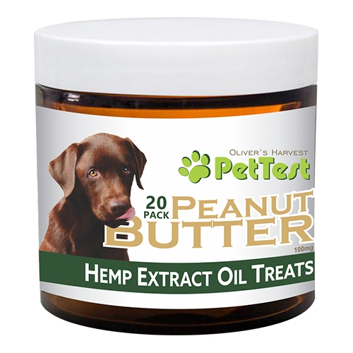 PetTest CBD 100 mg Peanut Butter Dog Treats