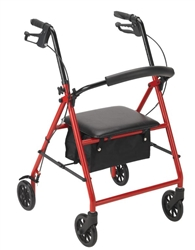 "Drive Four Wheel Rollator Walker with 6"" wheels"