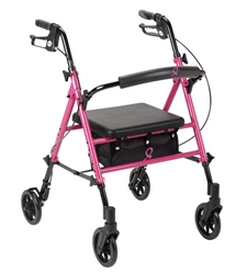 Breast Cancer AwarenessFour Wheel Rollator Walker