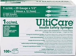 UltiCare 29 gauge 1cc Insulin syringe