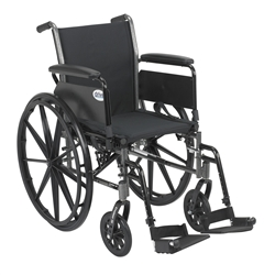 Cruiser III Light Weight Wheelchair with Flip Back Removable Full Arms and Swing Away Footrest