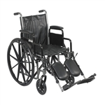 Silver Sport 2 Wheelchair with Detachable Desk Arms and Elevating Leg Rest