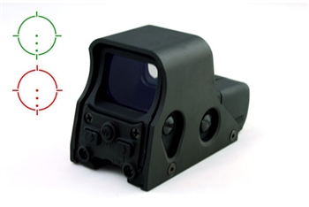 551 Style CQB Military Tactical Halo Red/Green Dot Combat Sight