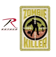 """Zombie Killer"" Airsoft Patch w Velcro Back"