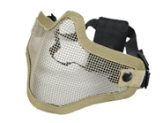 Bravo 2G Wire Mesh Half Face Airsoft Mask | Tan