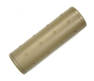 "4"" Airsoft Barrel Extension - 14mm CCW and CW Threads - Tan"