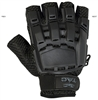 V-Tac Half Finger Plastic Knuckle Gloves - Black