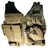 Fidragon Tactical Vest w/ Cross Draw Pistol Holster - Med to XL Size - OD Green