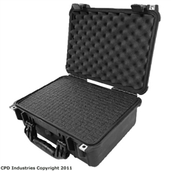 Pelican Case 1450 with Pre-Scored closed cell Polyethylene Foam. (Restocking fee 20%)