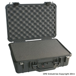 Pelican 1500 case with Pick & Pluck Polyurethane foam & Convoluted Lid