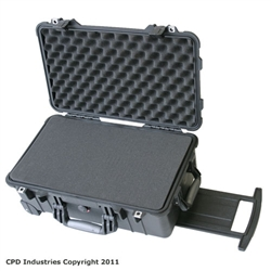 Pelican 1510 case with Pick & Pluck Polyurethane foam & Convoluted Lid