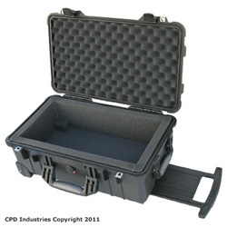 Pelican 1510 case with 1 in. foam liner - select open or closed cell foam.