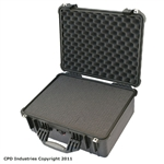Pelican 1550 case with Pick & Pluck Polyurethane foam & Convoluted Lid